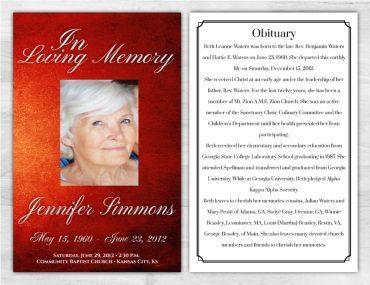 Funeral Program 1001