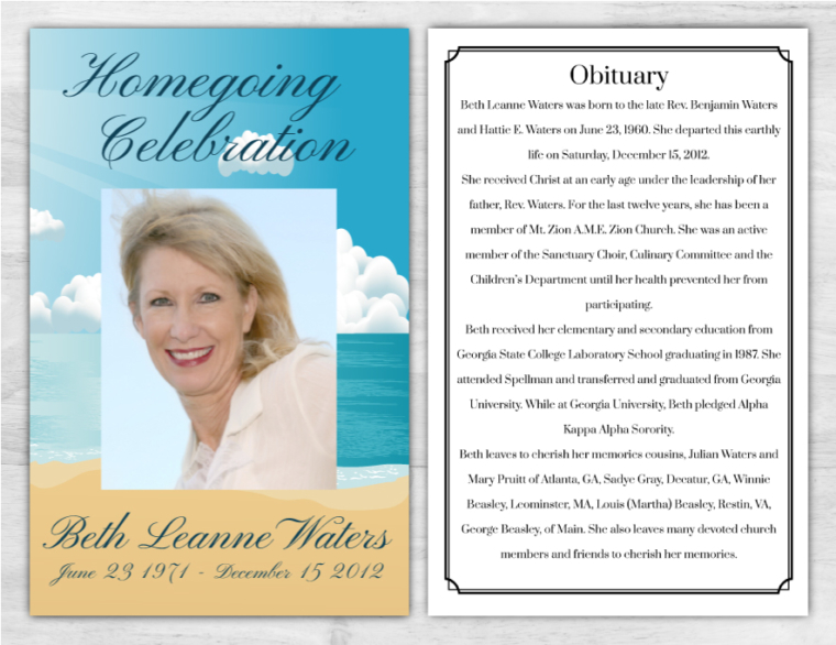 Funeral Program 1005