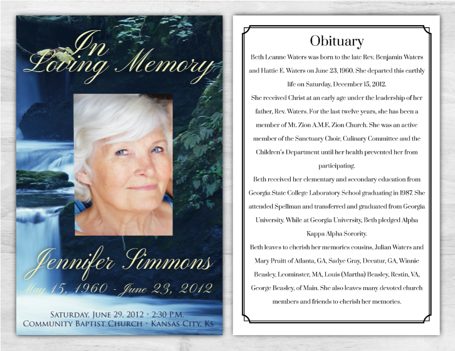 Funeral Program 1006