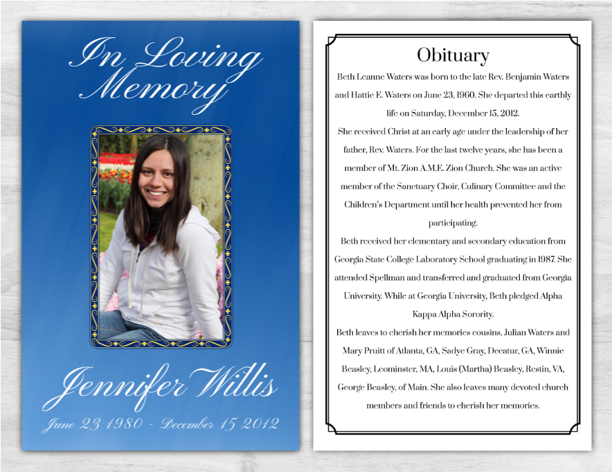 Funeral Program 1008