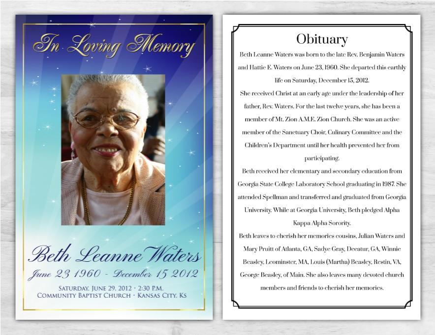 Funeral Program 1013