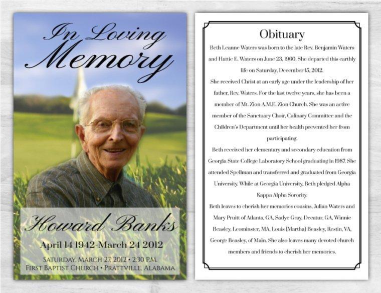 Funeral Program 1014