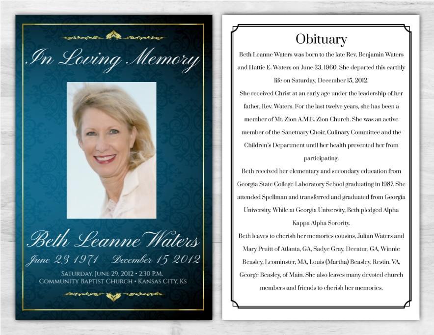 Funeral Program 1017