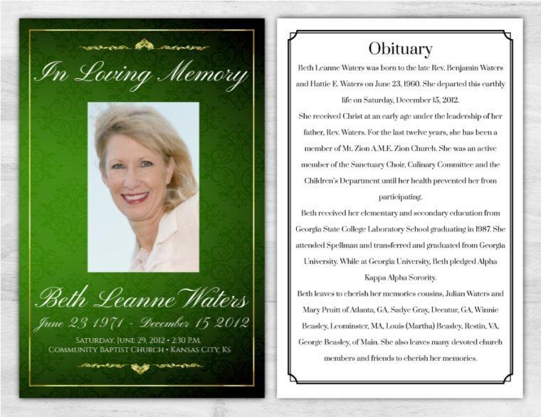 Funeral Program 1018