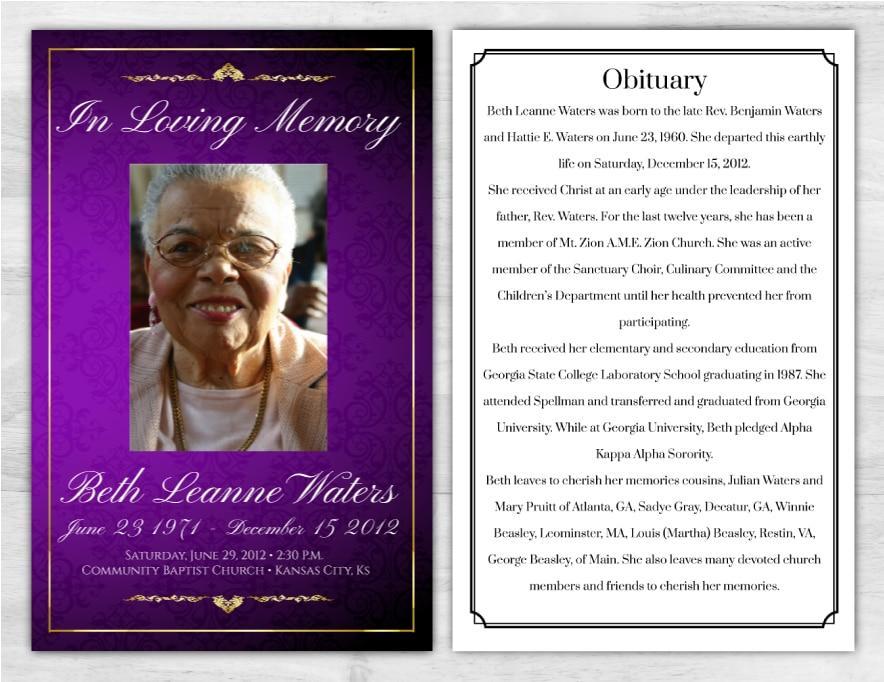 Funeral Program 1019