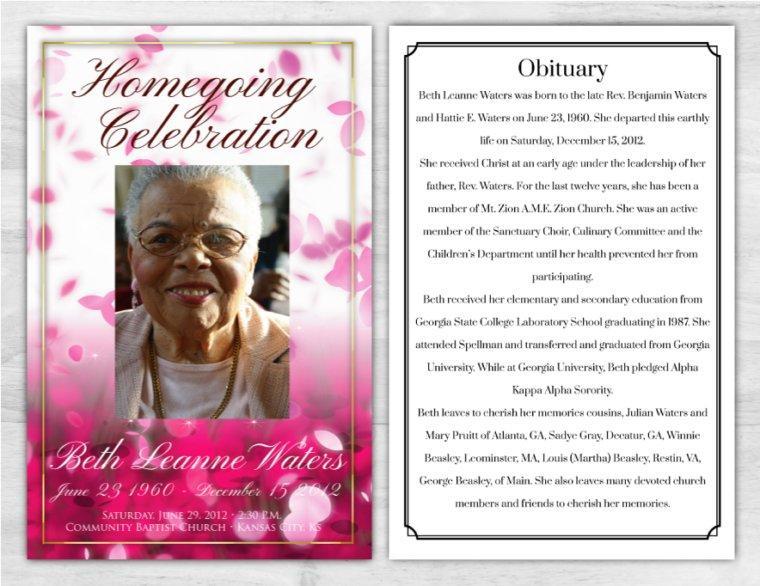 Funeral Program 1022