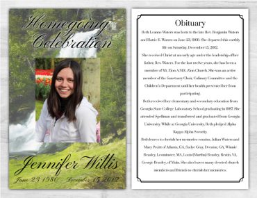 Funeral Program 1025