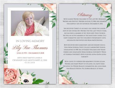Funeral Program 1070