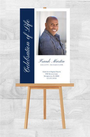 Funeral Program Memorial Poster 1072