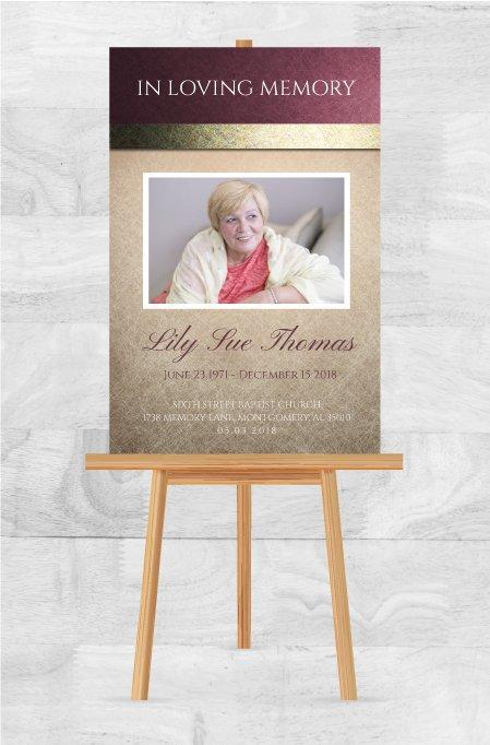 Funeral Program Memorial Poster 1079