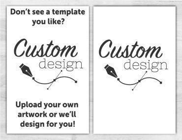 Custom No Fold Memorial Program