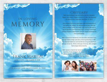 No Fold Memorial Funeral Program 1085
