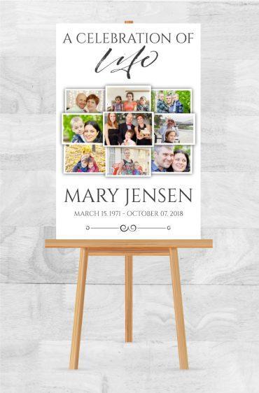 Funeral Program Memorial Poster 1001