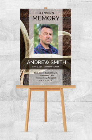 Funeral Program Memorial Poster 1087