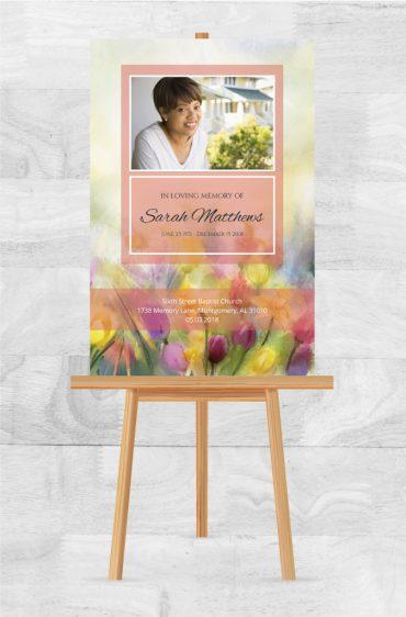 Funeral Memorial Poster 1099