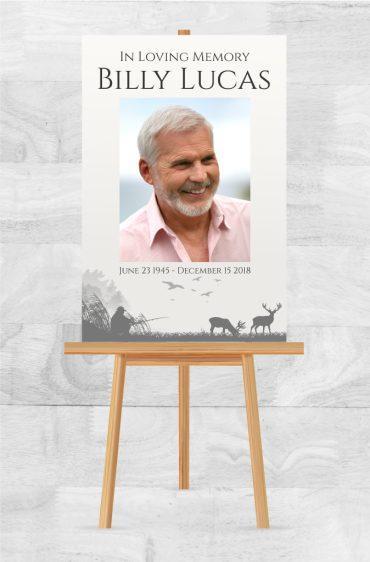 Funeral Memorial Poster 2010